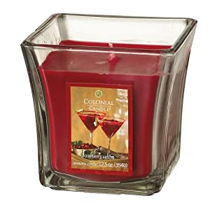 Colonial Candle Cranberry Cosmo 12.5 oz Scented Square Flared Jar Candle