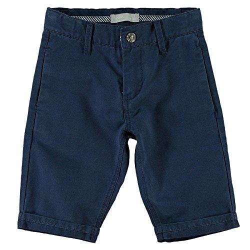 NAME IT Hane Kids Chino Long Shorts 215-Shorts Bambino    Blau 116
