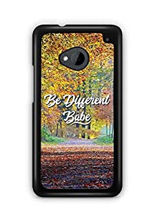 YuBingo Be Different Babe Designer Mobile Case Back Cover for HTC One M7