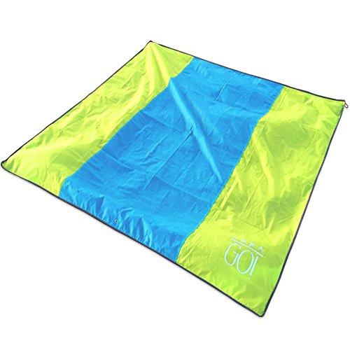 Beach Blanket No Sand: GO! XL Waterproof Beach Blanket / Picnic Blanket Mat 7x7