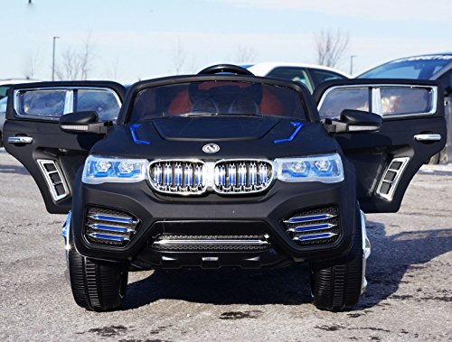 BMW-X5 Dull Black Licensed BMW X5 Electric Battery Operated Ride On Car Toy With Remote Control For Kids Childre (Bmw X5 For Kids compare prices)
