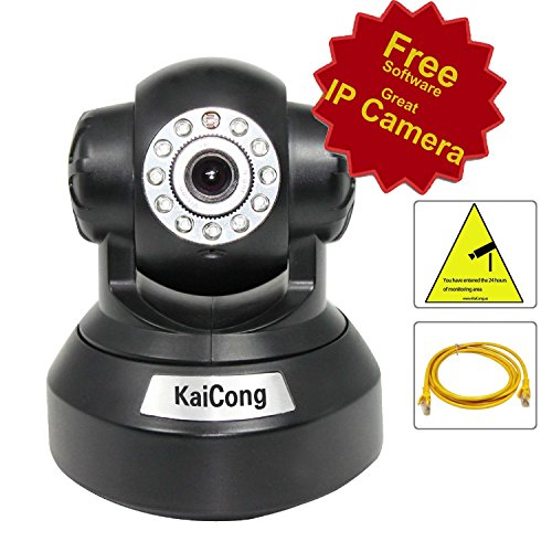Wireless Hd Kaicong Sip1016 Network Camera Surveillance Ip Camera Pan/Tilt/ Night Vision Internet Built-In Microphone With Phone Remote Monitoring Support Lens 4Mm