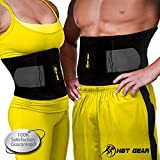 Waist Trimmer by HBT Gear - Trim Belt for Targeting Ab Muscles - Best Neoprene Waist Trainer for Wider Coverage - FREE BONUS