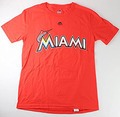 Giancarlo Stanton Miami Marlins #27 MLB Youth Player T-shirt Orange