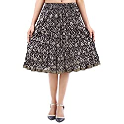 Prateek exports Elegant Printed Black Fashionable Skirt