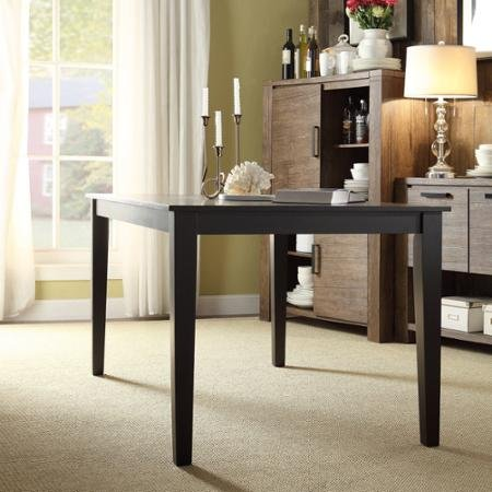 Lexington Black Large Dining Table with a Smooth Finish That Makes This Black Dining Table Easy to Keep Clean