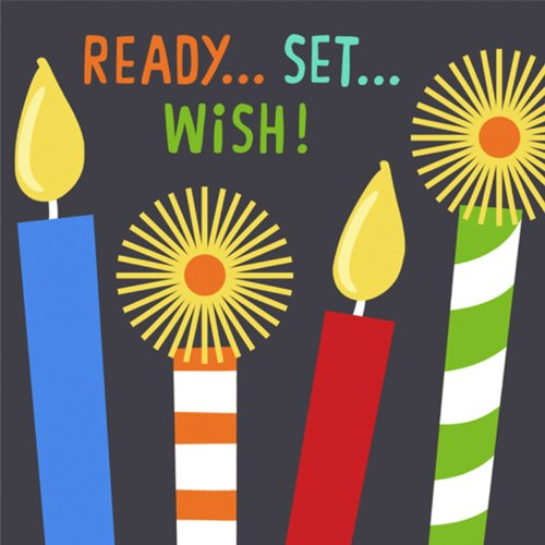 Candles and Wishes Beverage Napkins-16 count