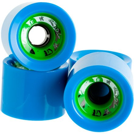 Sector 9 Skateboards Dual Durometer Wheels - 70mm Blue 80A Outer/Green 85A Inner, 70mm
