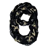 NFL New Orleans Saints Sheer Infinity Scarf, One Size, Gold