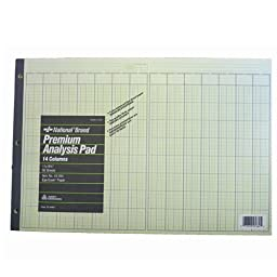 45364 National Brand Premium Analysis 2 Pack of Pads 11 x 16 3/8 -14 Columns