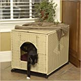 "Litter Box Cover in Natural Wicker Color: Natural, Size: Jumbo (Jumbo: 20"" H x 18"