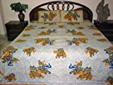 Cotton Bedspreads Indian Bedding Elephant Print King Size