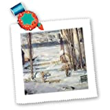 qs_180256_5 BLN Scenes of Winter Fine Art Collection - A Morning Snow Hudson River, 1910 by George B