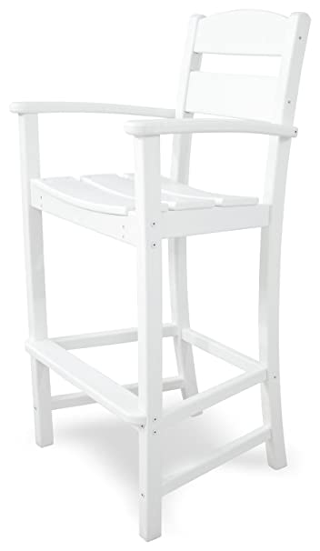 Ivy Terrace IVTD212WH Classics Bar Arm Chair, White