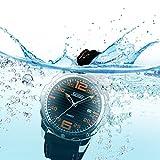 Qiyan Mens Gym Quartz Waterproof Sport Wrist Watch 30M Water Resistant Black