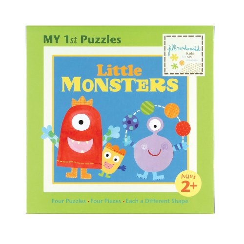 Jill McDonald Kids First Puzzles, Little Monsters
