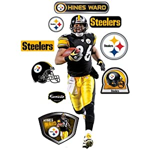 Fathead NFL Pittsburgh Steelers Hines Ward Wall Graphic by Fathead