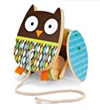 Skip Hop Treetop Friends Flapping Owl Pull Toy, toddlers, pull, along, wooden, babies, find, toys