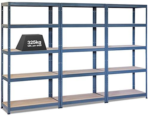 3-x-storalexr-300mm-deep-garage-racking-shelving-units-325kg-udl-free-mallet