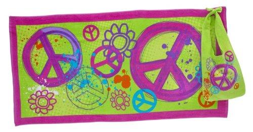 ... : Girls, Tween and Teen Peace Sign Beach Towel & Bag Tote Gift Set