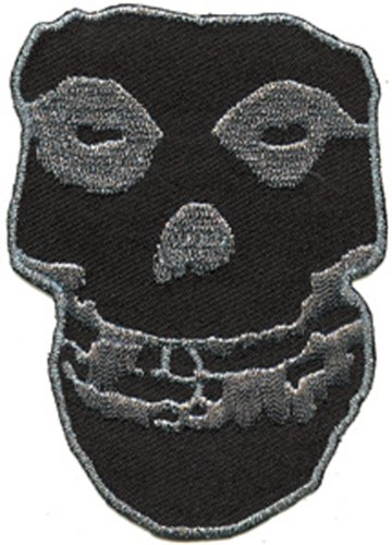 Application Misfits Silver Glitter SK Large Patch, 10""