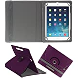 Acm Rotating 360° Leather Flip Case For Apple Ipad Mini 4 Tablet Stand Cover Holder Purple