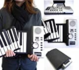 くるくる巻けてコンパクト持ち運びロールピアノFSSP061