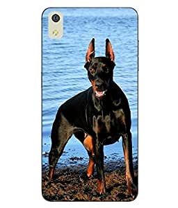 Make My Print Dog Printed Multicolor Soft Back Cover For LYF WATER 8