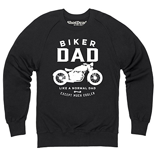 Biker Dad Felpa girocollo, Uomo, Nero, M
