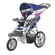 InStep Grand Safari Single Swivel Stroller Blue/Grape