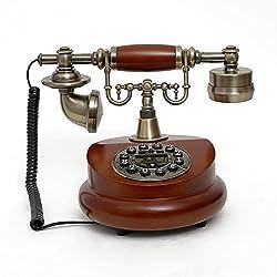 DRAV Antique landline Phone Wooden