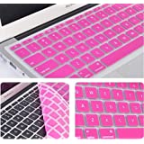 "2010kharido Silicone Compact Keyboard Skin Guard Cover Apple Macbook 13"" 15"" 17"" Air/Pro/New Pro Retina Hot Pink..."