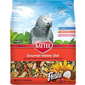 Kaytee Fiesta Fortified Food for Parrots, 25-Pound