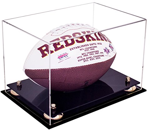 Deluxe Clear Acrylic NFL Collectible Football Display Case with UV Protection (A004) (Gold Ball Display compare prices)