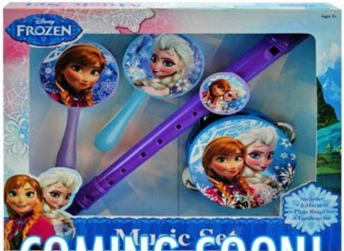Disney Frozen Musical Instrument Set (Recorder, Maracas, Tambourine)