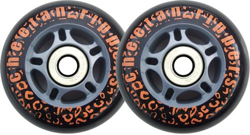 Best Prices! BLACK CHEETAH Wheels for RIPSTICK ripstik wave board ABEC 9