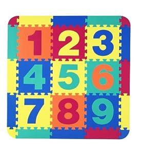 25 teiliges bodenpuzzle puzzlematten puzzle teppich set mit nummern von 1 bis 9 aus eva. Black Bedroom Furniture Sets. Home Design Ideas