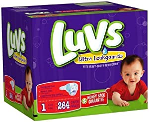 Luvs Ultra Leakguards - 264 ct., Size 1
