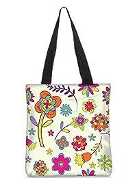 Snoogg Abstract Designs Digitally Printed Utility Tote Bag Handbag Made Of Poly Canvas
