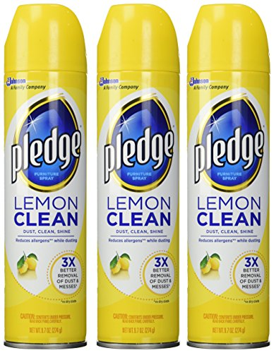 Pledge Aerosol Lemon 9.7 oz. (Pack Of 3)
