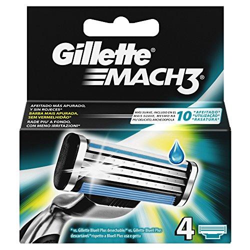 gillette-mach-3-rasoir-manuel-avec-lames-lames-de-rasoir-pack-of-4