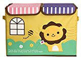 UberLyfe Foldable Kids Storage Box Organizer- Double Flap - Large (Mighty Lion)