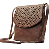 Madame Exclusive Women's Sling Bag (Brown,Me-01Br)