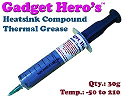 Gadget Hero's 30g Thermal Grease Paste Heat Sink Compound for CPU & Chipsets. Grey Color