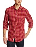 Original Penguin Mens Long Sleeve Even Plaid Shirt