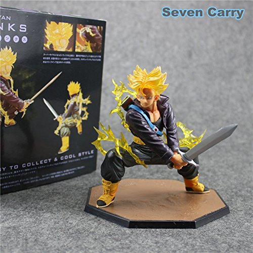 Dragon Ball Z Figuarts Trunks Super Saiyan Battle Version PVC Action Figure Model Collection Toy With Box (Pvc Figure Display Case compare prices)