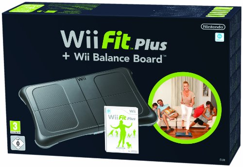 Wii Black Fit Plus and Balance Board Bundle