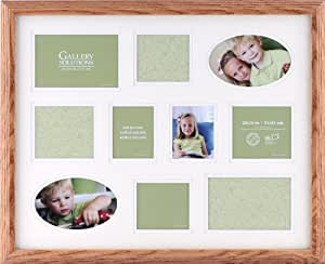 Gallery Solutions Natural Step Collage Frame with 10 Openings
