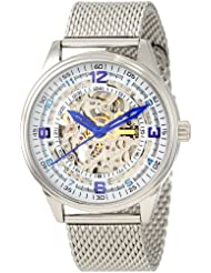 Akribos XXIV Men's AKR446SS Bravura Saturnos Elite Automatic Stainless Mesh Watch $98.93