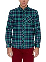 THE INDIAN FACE Camisa Hombre (Verde / Azul)
